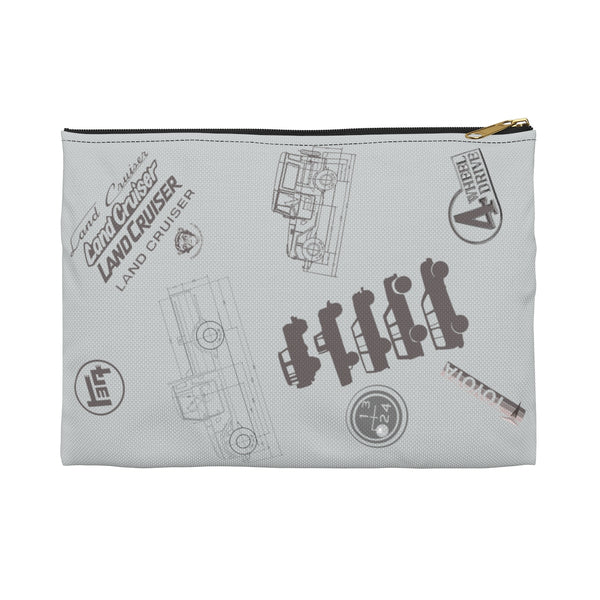 Land Cruiser Gray Accessory Pouch by Reefmonkey