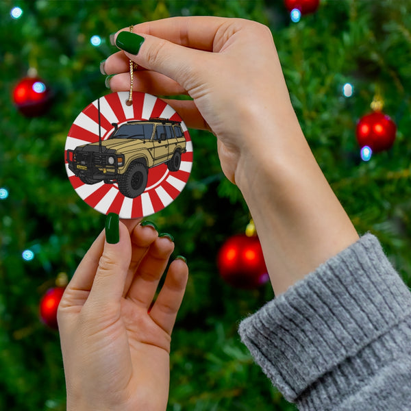 Fj60 Land Cruiser Christmas Ornaments Artist Christopher Marshall by Reefmonkey Gifts for Toyota Fans
