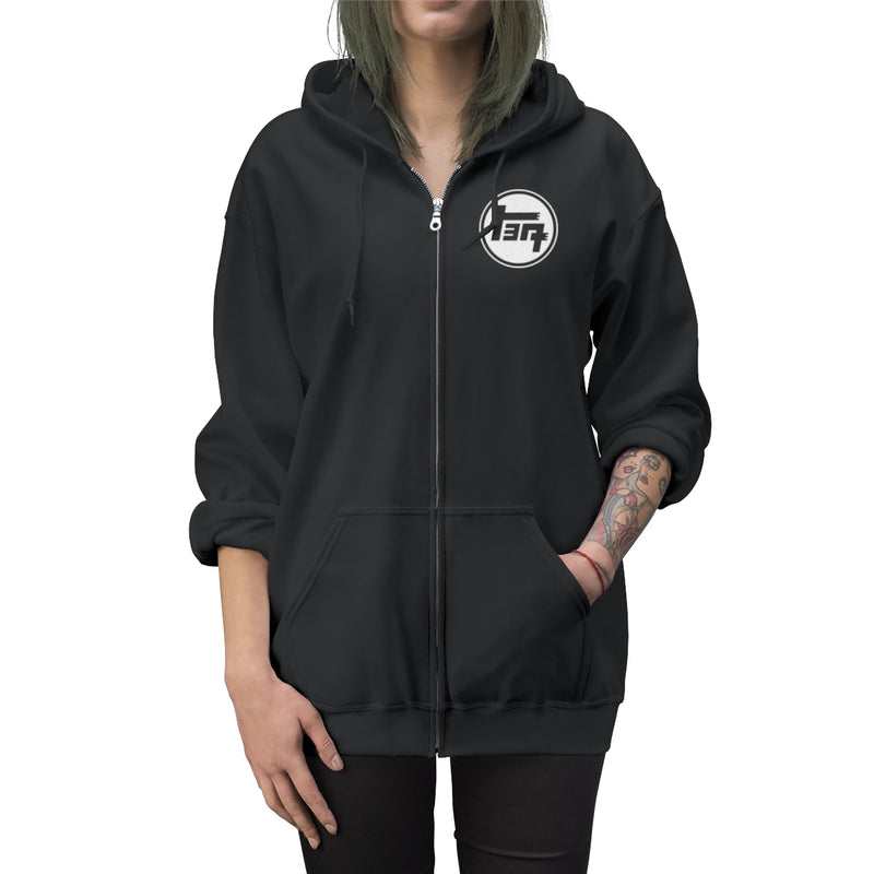 TEQ Embroidered Unisex Zip Up Hoodie