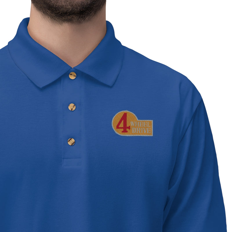 4 Wheel Drive FJ40 - Embroidered Polo Shirt by Reefmonkey