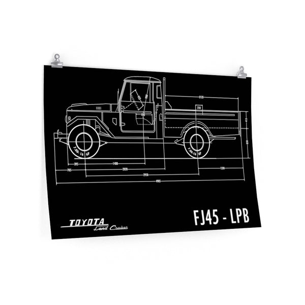 FJ45 Totota Land Cruiser Poster gift for man cave Reefmonkey