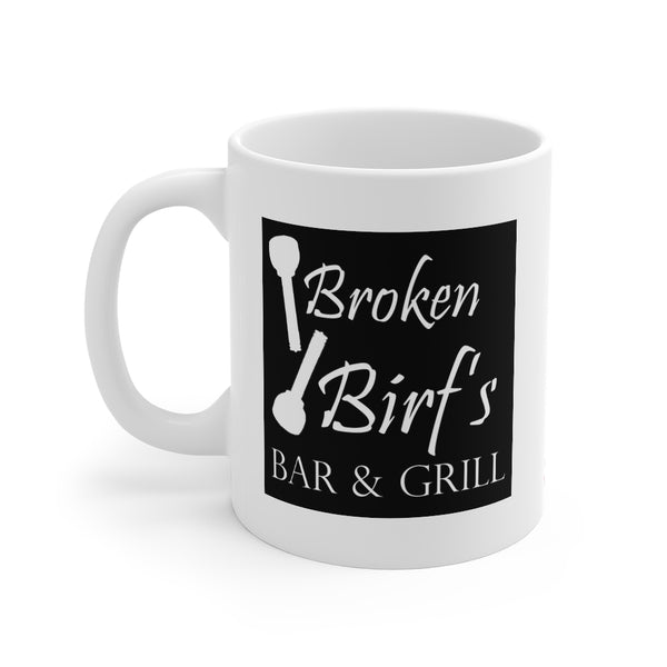 Broken Birf's Bar and Grill Coffee Mug