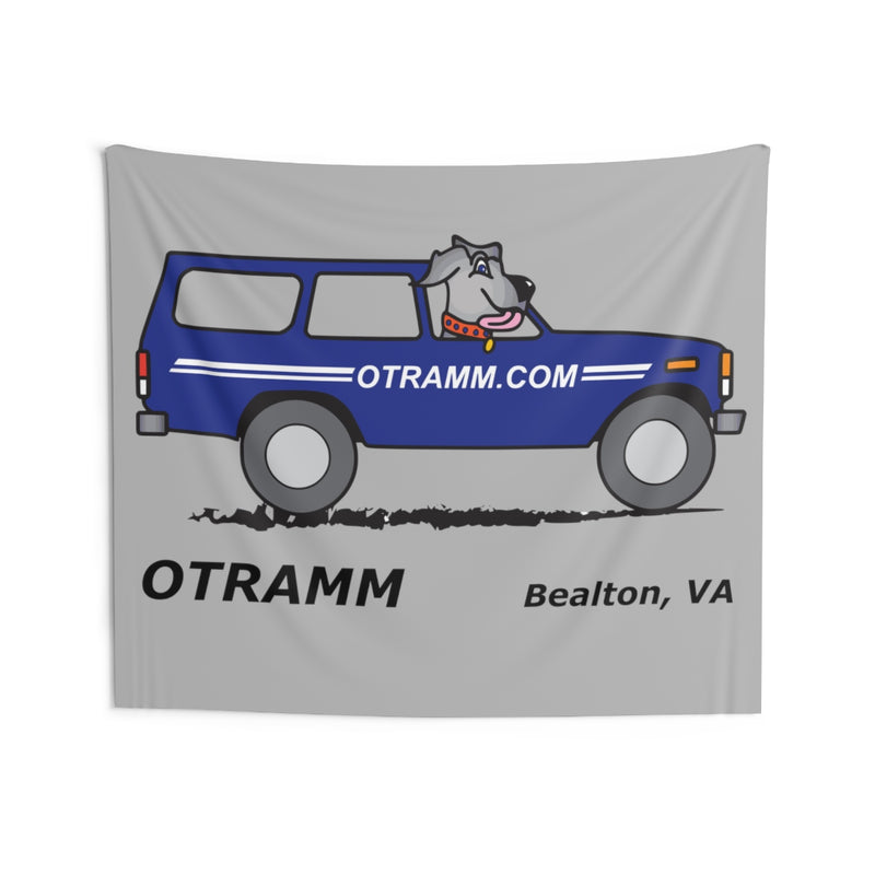 OTRAMM Wall Tapestries Garage Wall Decoration Toyota Land Cruiser FJ60 and Dog