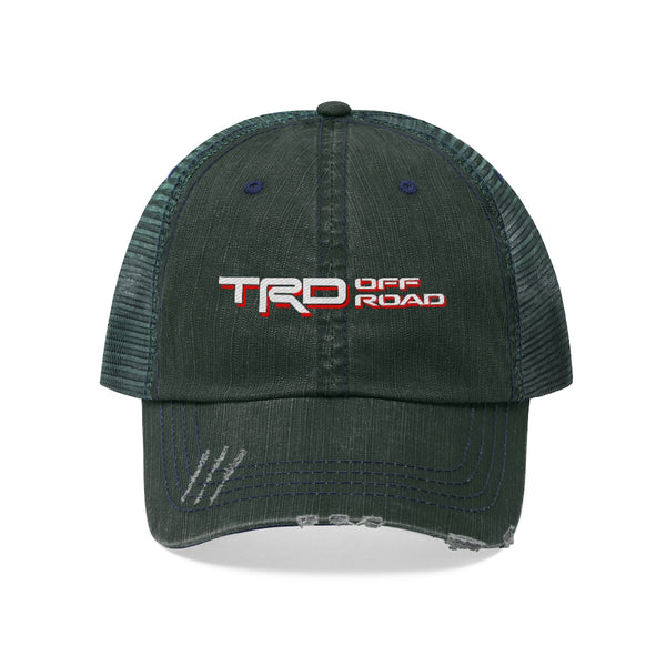 Toyota TRD Off Road - Embroidered Distressed Trucker hat