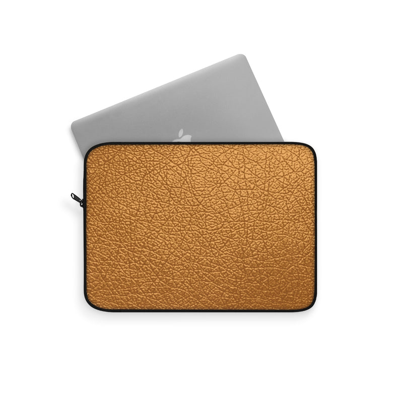 Gold Leather Laptop Sleeve by Reefmonkey