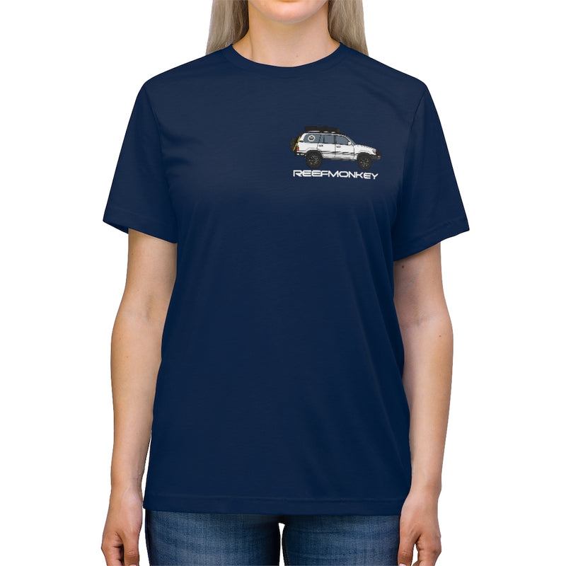 100 Series Land Cruiser T-shirt Unisex Premium Tri-blend Tee by Reefmonkey Artist Christopher Marshall