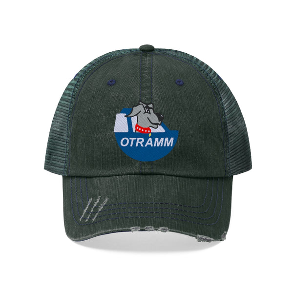 OTRAMM - Embroidered Trucker Hat FJ60 Land Cruiser with Dog Distressed Trucker Cap
