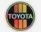 "TOYOTA Old School Stripe Logo Decal Regular or Holographic 3"" or  6"""