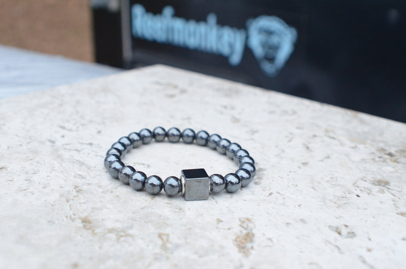 Mens Beaded Bracelet Hematite Stone Bracelet Gifts For Guys - Reefmonkey