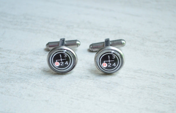 FJ40 Gear Shift Diagram Cuff Links Toyota Wedding Gifts - Reefmonkey