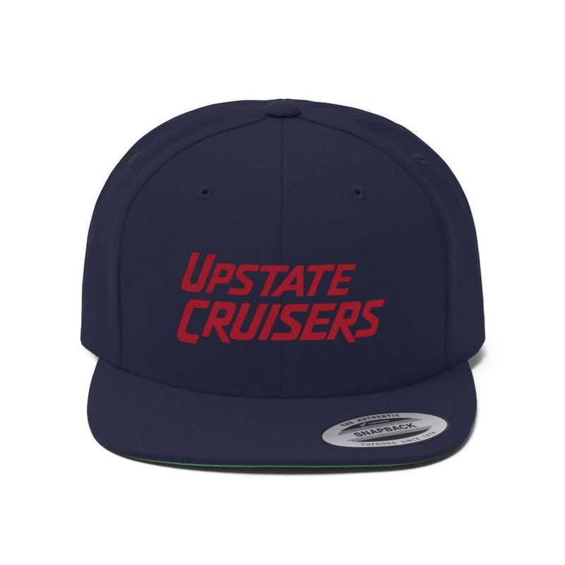 Upstate Cruisers - Embroidered Flat Brim Snapback Hat by Reefmonkey Land Cruiser Club Hat