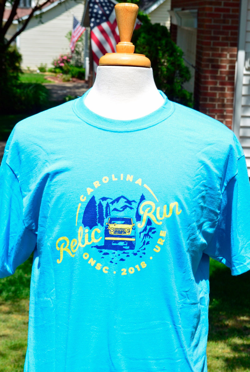 Olde North State Cruisers - Carolina Relic Run 2018 T Shirt by Reefmonkey ONSC