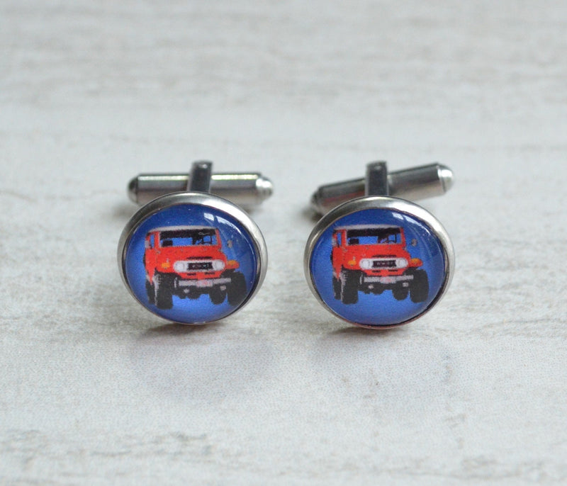 FJ40 Toyota Land Cruiser Cuff Links - by Reefmonkey