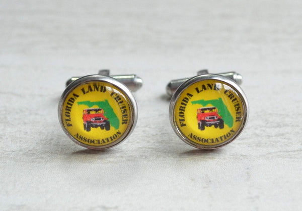 Florida Land Cruiser Association Cuff Links - by Reefmonkey FLCA