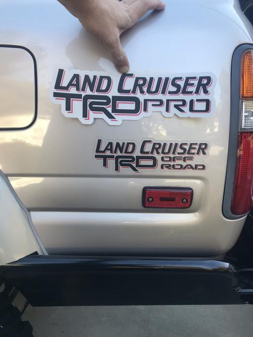 Land Cruiser TRD Off Road Sticker by Reefmonkey