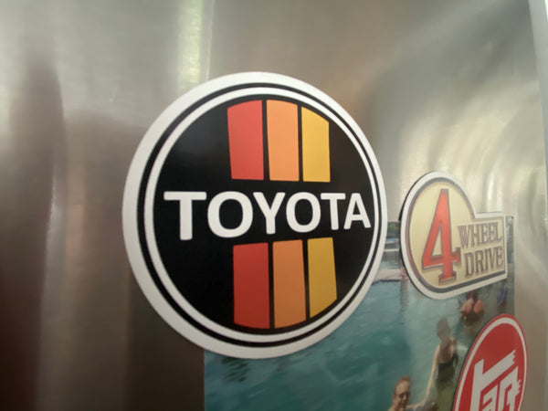 Toyota Old School 3 Stripe Magnet 3""