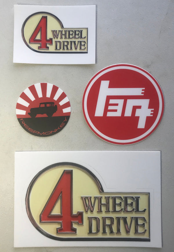 4 Wheel Drive TEQ Sticker Pack (4 stickers)