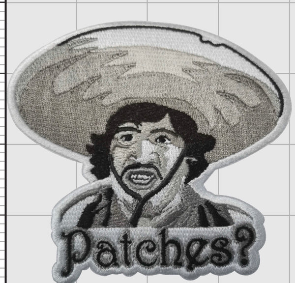Patches? Badges? 100% Embroidered Velcro backed Patch