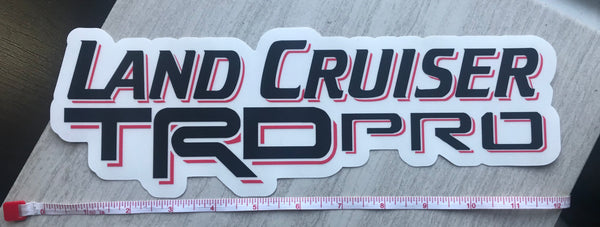 Land Cruiser TRD PRO Decal Trdpro XL sticker