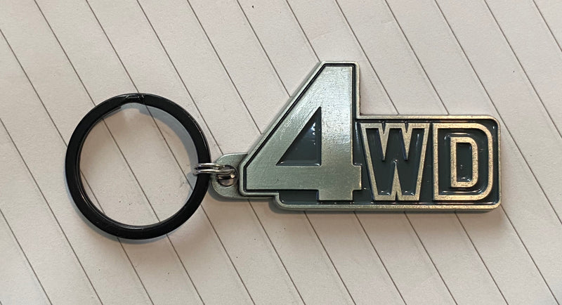 4WD Keychain FJ60 Land Cruiser Solid Antique Silver finish Key Chain