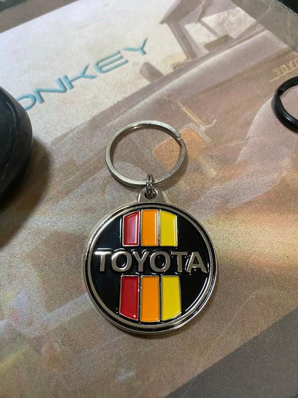 Toyota Old School 3 Stripe Solid Metal Keychain
