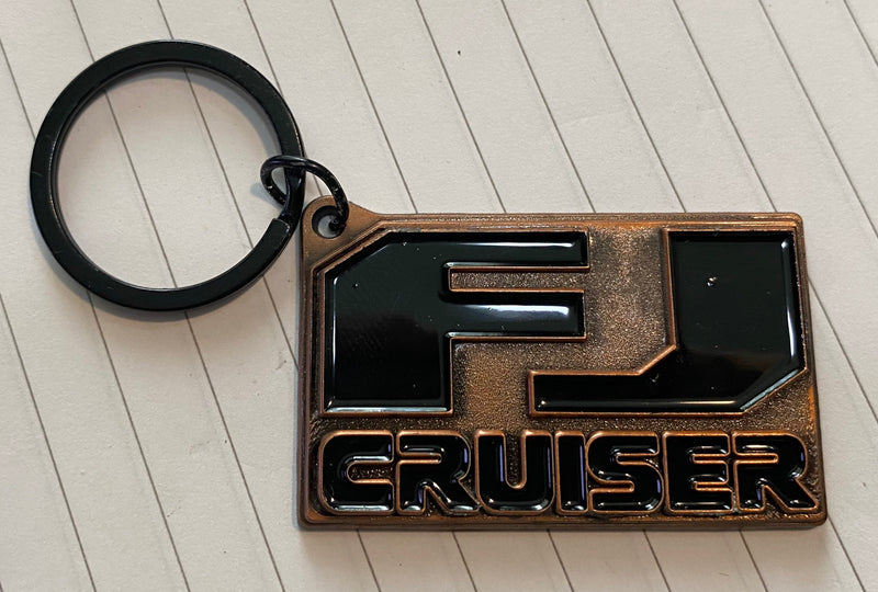 FJ Cruiser Cast Bronze Key Chain by Reefmonkey FJCruiser Keychain