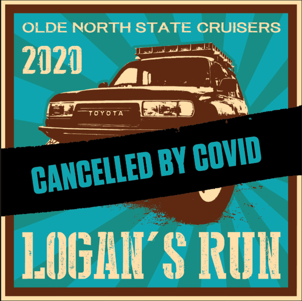 Logans Run 2020 - Cancelled by Covid PRE-ORDER decals Free shipping