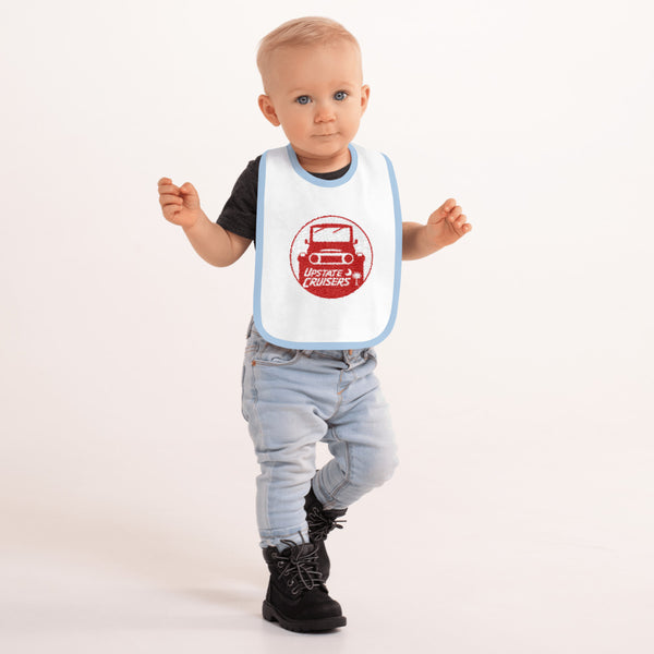 Upstate Cruisers Embroidered Baby Bib - By Reefmonkey