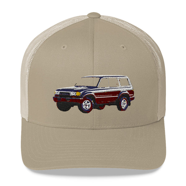 80 Series Land Cruiser Embroidered Trucker Hat