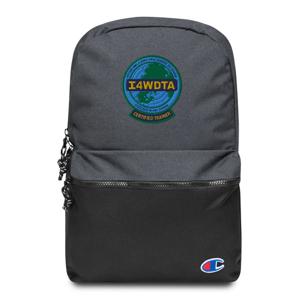 I4WDTA Embroidered Champion Backpack (CERTIFIED TRAINER ONLY)