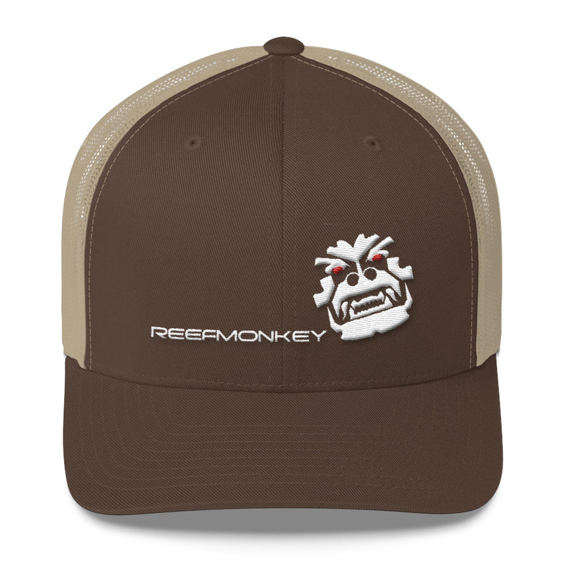 Angry Monkey Puffy Embroidery Trucker Hat by Reefmonkey