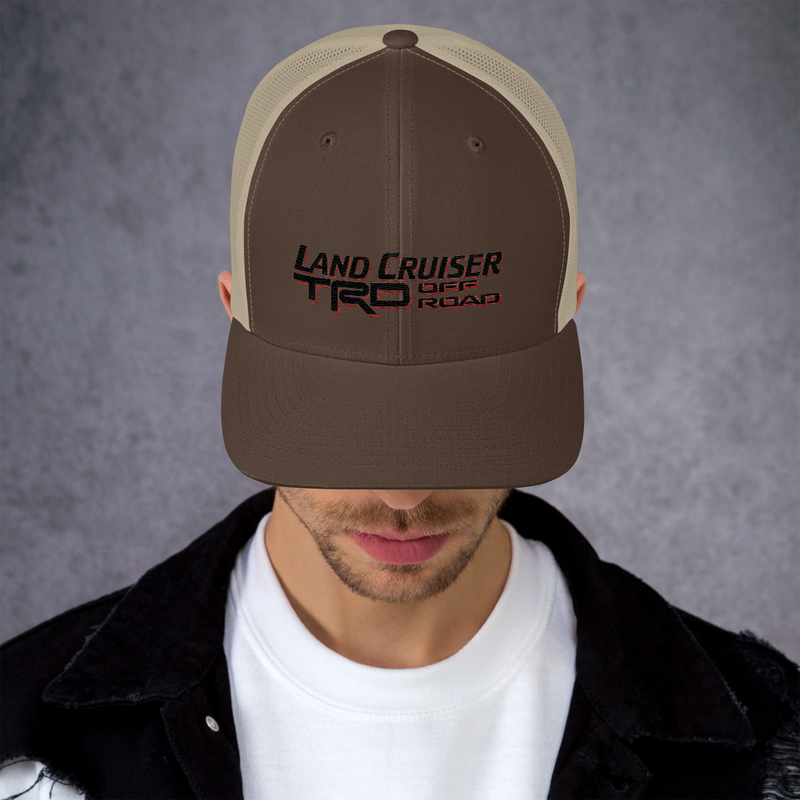 Land Cruiser TRD Off Road Embroidered Trucker Cap by Reefmonkey