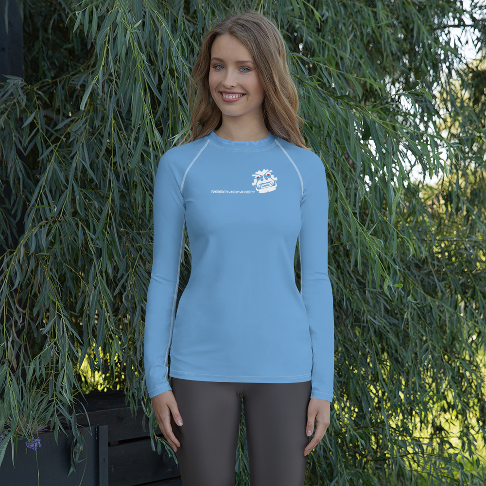 Angry Monkey Women's Rash Guard Shirt by Reefmonkey