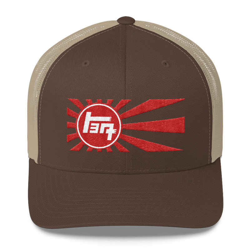 TEQ Toyota Old School Rising Sun Embroidered Trucker hat by Reefmonkey