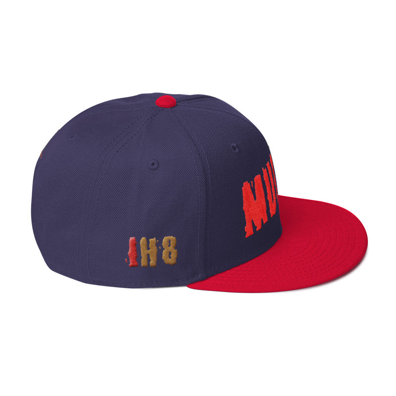 IH8MUD Premium Flatbrim Embroidered Snapback hat by Reefmonkey
