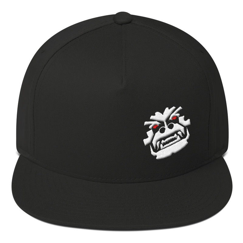 Angry Monkey Puffy Embroidery Snapback flat brim hat by Reefmonkey