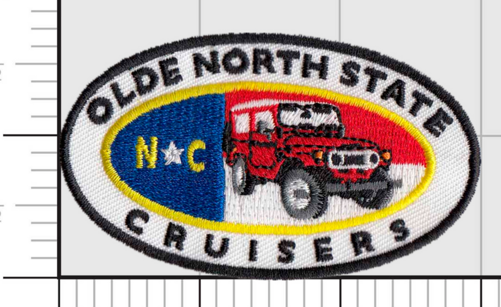 "ONSC Badges 3"" - Olde North State Cruisers Embroidered Velcro Patch PREORDER"