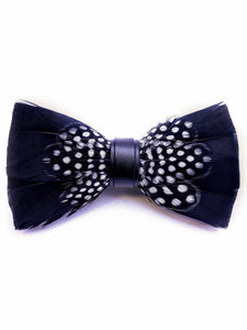 Black & White Polka Dot Handmade Feather Bow Tie - Love Lee Boutique - Sydney Australia