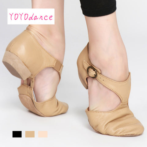 Leather Teacher Jazz Dance Shoes