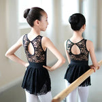 Kids Leotards Girls Lycra Cotton Sleeveless Ballet Stretch Bodysuit