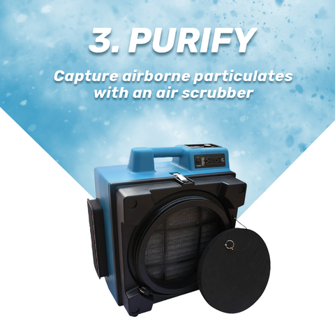 DIY Water Mitigation for Homeowners Step 3 Purify with Air Scrubber