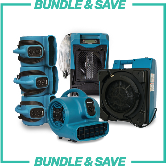 XPOWER Water Damage Restoration Equipment Bundle & Save
