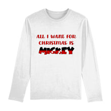 Load image into Gallery viewer, All I Want For Christmas Is Mickey Long Sleeve Unisex Tee