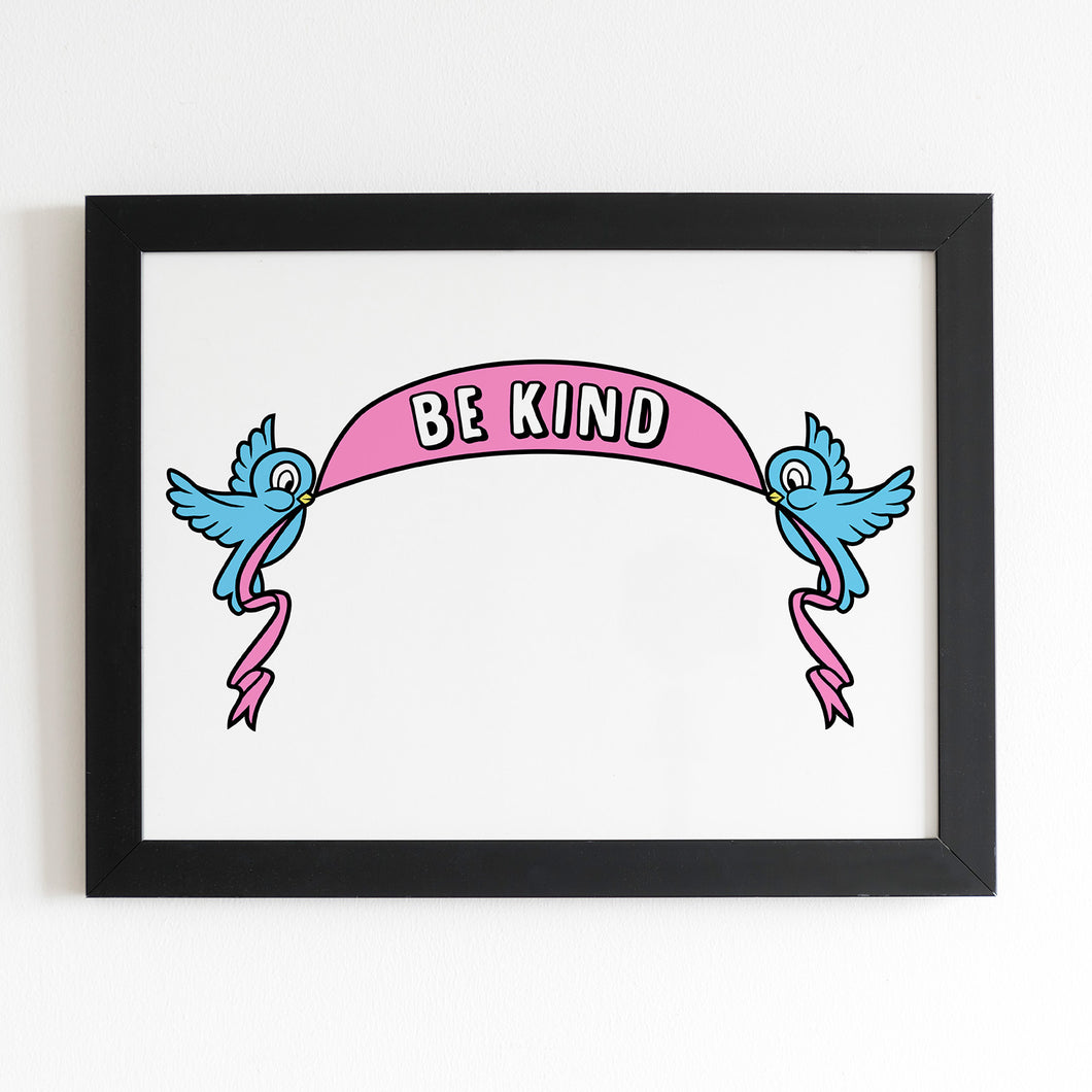 Be Kind A4 Art Print