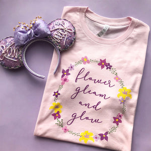 Flower Gleam And Glow Unisex Tee