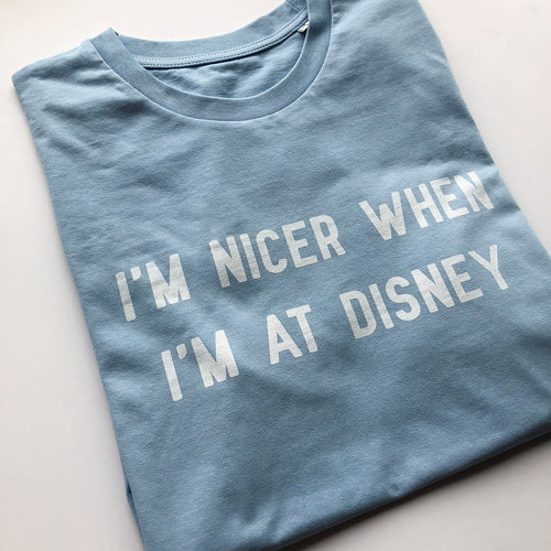 I'm Nicer When I'm At Disney Children's Tee S/S Colours