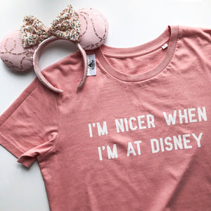 I'm Nicer When I'm At Disney T-Shirt Dress