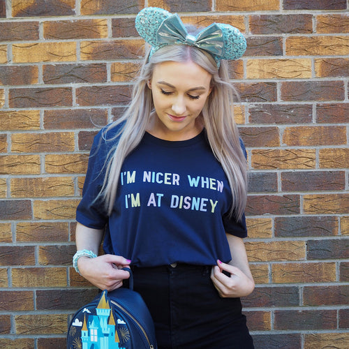 I'm Nicer When I'm At Disney Pastel Unisex Tee