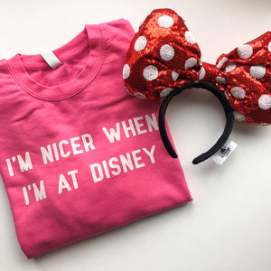I'm Nicer When I'm At Disney Valentine's Unisex Sweatshirt