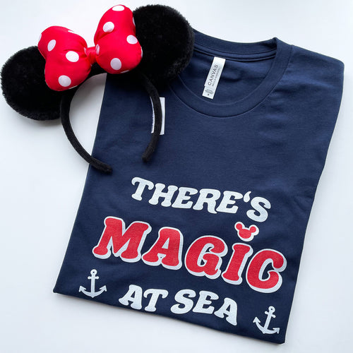 There's Magic At Sea Unisex Tee